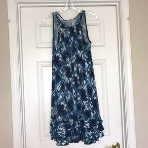 Dress with ruffle at hem